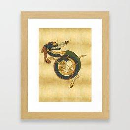 Celtic Afanc Framed Art Print
