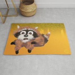Raccoon Series: Running Scared Rug