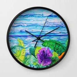 Lanai View Wall Clock