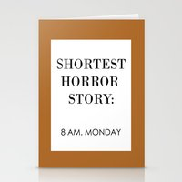horror Stationery Cards featuring Horror by MrWhite