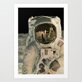 LIFE MAGAZINE: Moon Landing Art Print