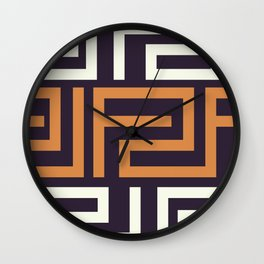 African Tribal Pattern No. 51 Wall Clock
