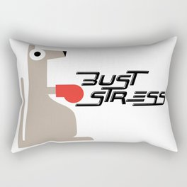 Bust Stress, Be Kangaroo Fighting Boxfit Gym Workout Rectangular Pillow