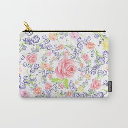Bouquet of flowers - Marigold - BLUE Carry-All Pouch