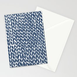 Hand Knit Zoom Navy Stationery Cards