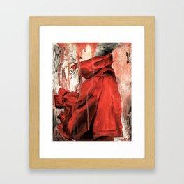 RED COAT Framed Art Print