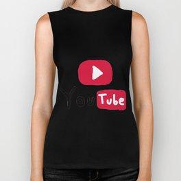 Only for Youtuber - YouTube lover best design Biker Tank