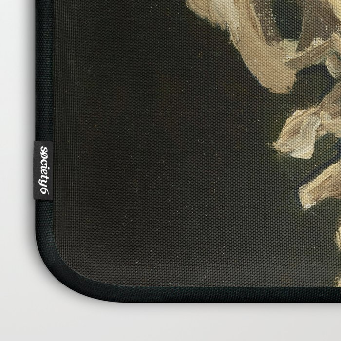 Skull of a Skeleton with Burning Cigarette by Vincent van Gogh Laptop Sleeve