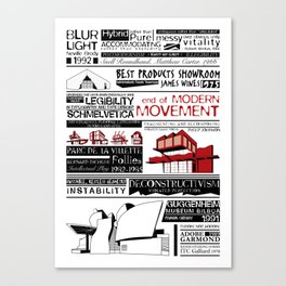 End of Modern Movement Type & Architecture Canvas Print