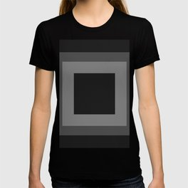 Dark Grey Square Design T-shirt