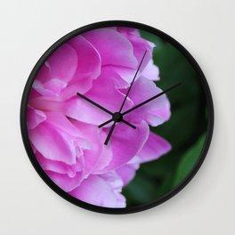 Pretty Peony Wall Clock