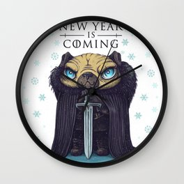 New year is coming Wall Clock
