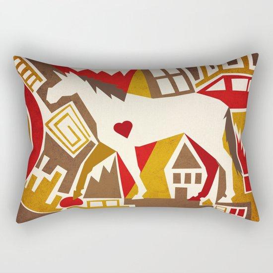 Abstract Pattern Unicorn Rectangular Pillow