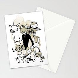minima - dapper fox Stationery Cards