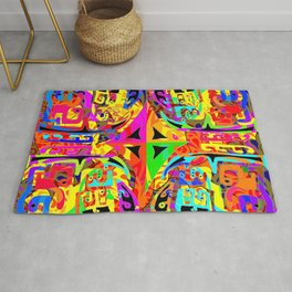 Caos and order, in vivid collors Rug