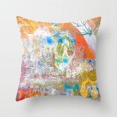 Collage de Mudra Throw Pillow