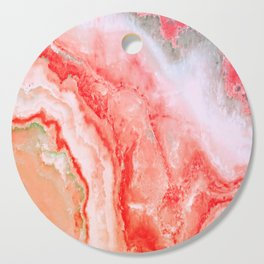 Luxury LIVING CORAL Agate Marble Geode Gem Cutting Board