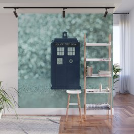 Dr. Who Police Box Wall Mural