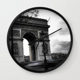 Paris : Arc de Triomphe, défaite d'aujourd'hui Wall Clock