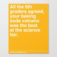 Best at the Science Fair Canvas Print