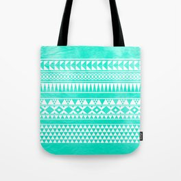 Urban Tribal Turquoise Tote Bag