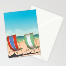 Summer Deck chairs Stationery Cards