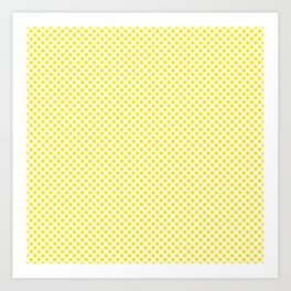 Blazing Yellow Polka Dots Art Print