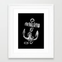 anchor Framed Art Prints featuring Anchor by pakowacz