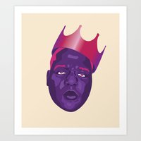 biggie smalls Art Prints featuring Biggie Smalls by David Savelberg
