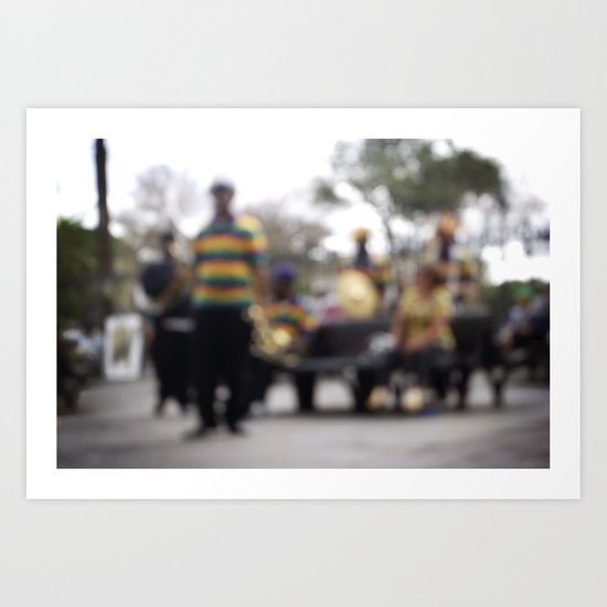 Mardi Gras Brass Band Art Print