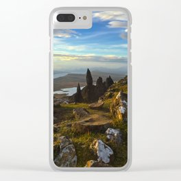 Old Man of Storr, Scotland Clear iPhone Case