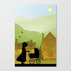 Childhood Dreams, The Pram Canvas Print