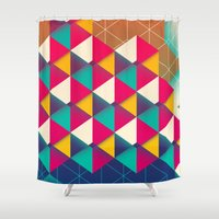 scales Shower Curtains featuring Scales  by sixsixtysix