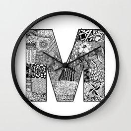 Cutout Letter M Wall Clock