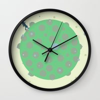 the little prince Wall Clocks featuring little prince by half of ten