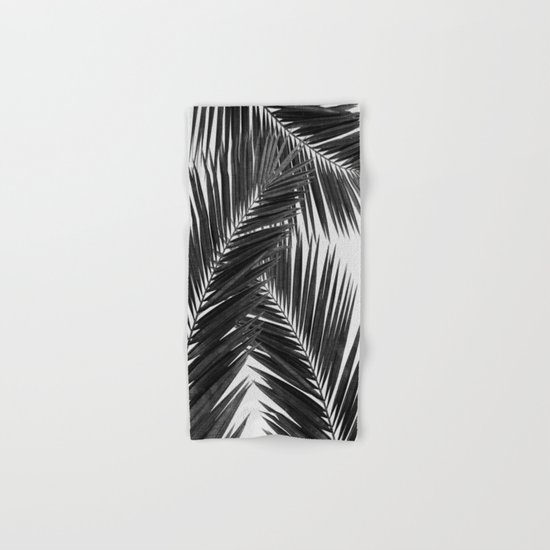 Palm Leaf Black & White III Hand & Bath Towel