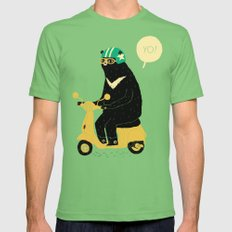 scooter bear green Grass Mens Fitted Tee LARGE