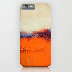 Orange and White iPhone 6s Slim Case