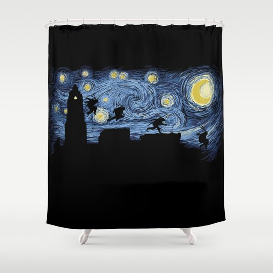 Starry Fight Shower Curtain