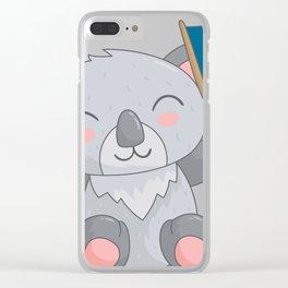 Cartoon Cute Bear Clear iPhone Case
