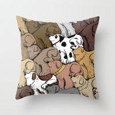 Dog Tessellation Throw Pillow