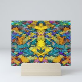 Interlocking ghosts yellow Mini Art Print