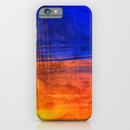 Red Blue Scratch iPhone Case