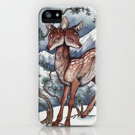 Winter Fawn iPhone Case