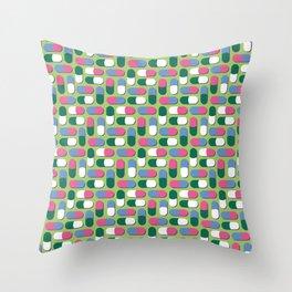 Colorful pills Throw Pillow