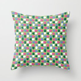 Colorful pills Throw Pillow
