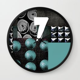 BLUE #THE 7 SERIES Wall Clock