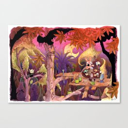 Treehouse Picnic Canvas Print
