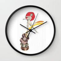 ballerina Wall Clocks featuring Ballerina by Fitacola