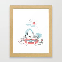 Summer Glow Framed Art Print